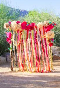 Arche cérémonie laïque ruban bourgogne