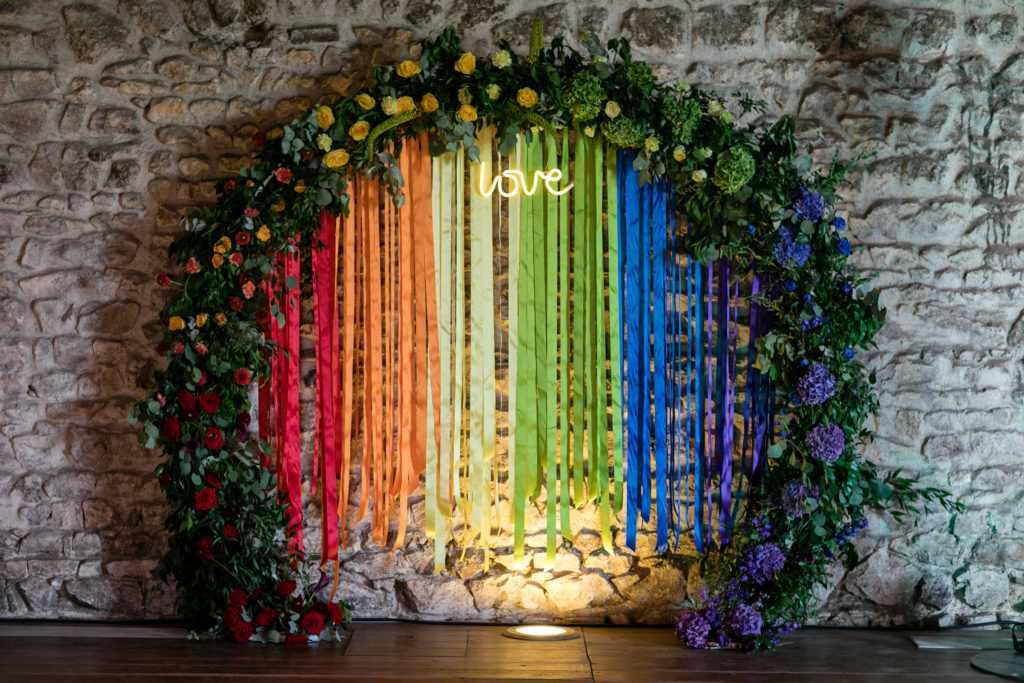 arche rainbow par d day wedding planner lyon