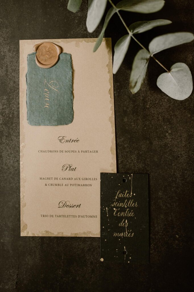menu mariage automne normandie