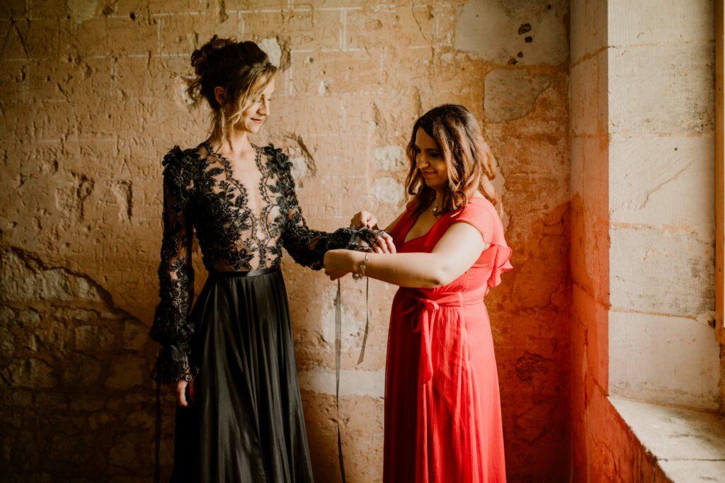 wedding planner normandie red dress
