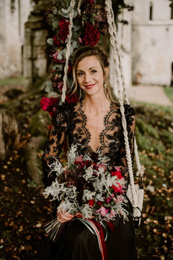 robe de mariée noire mariage rouen