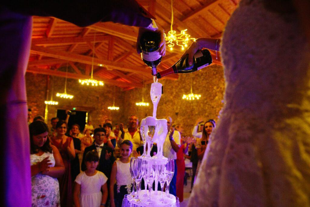 fontaine de champagne mariage lyon