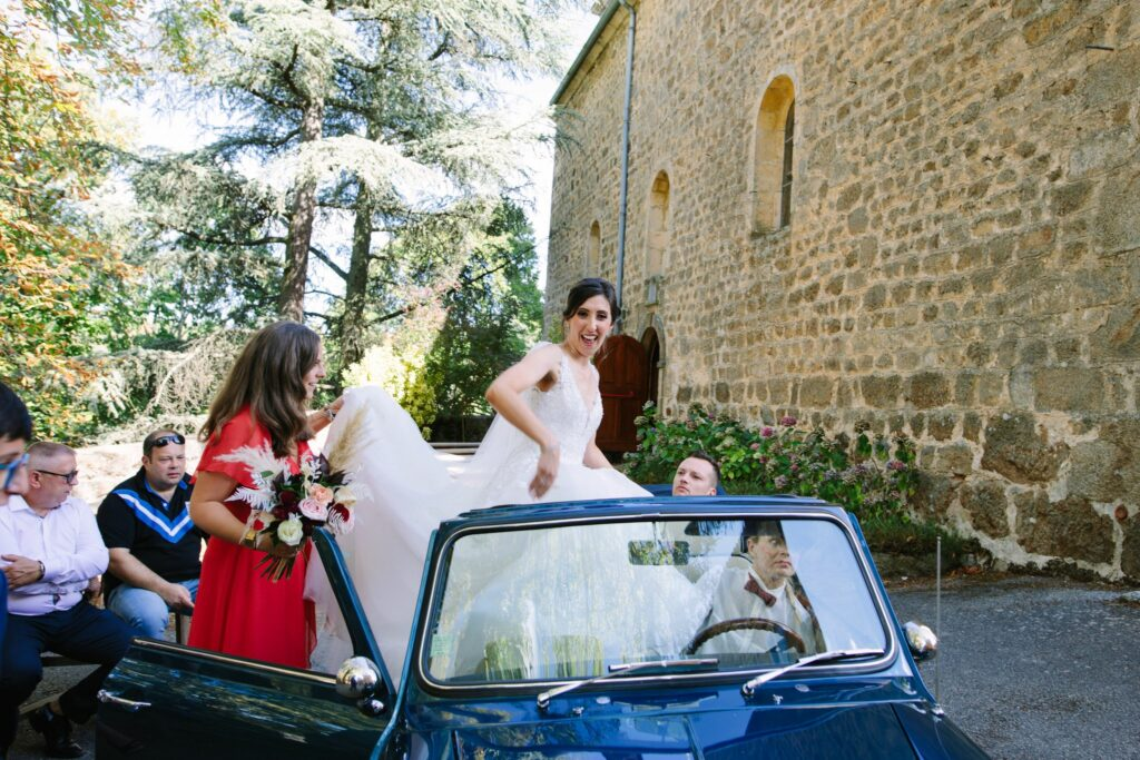 voiture des mariés mariage rhone