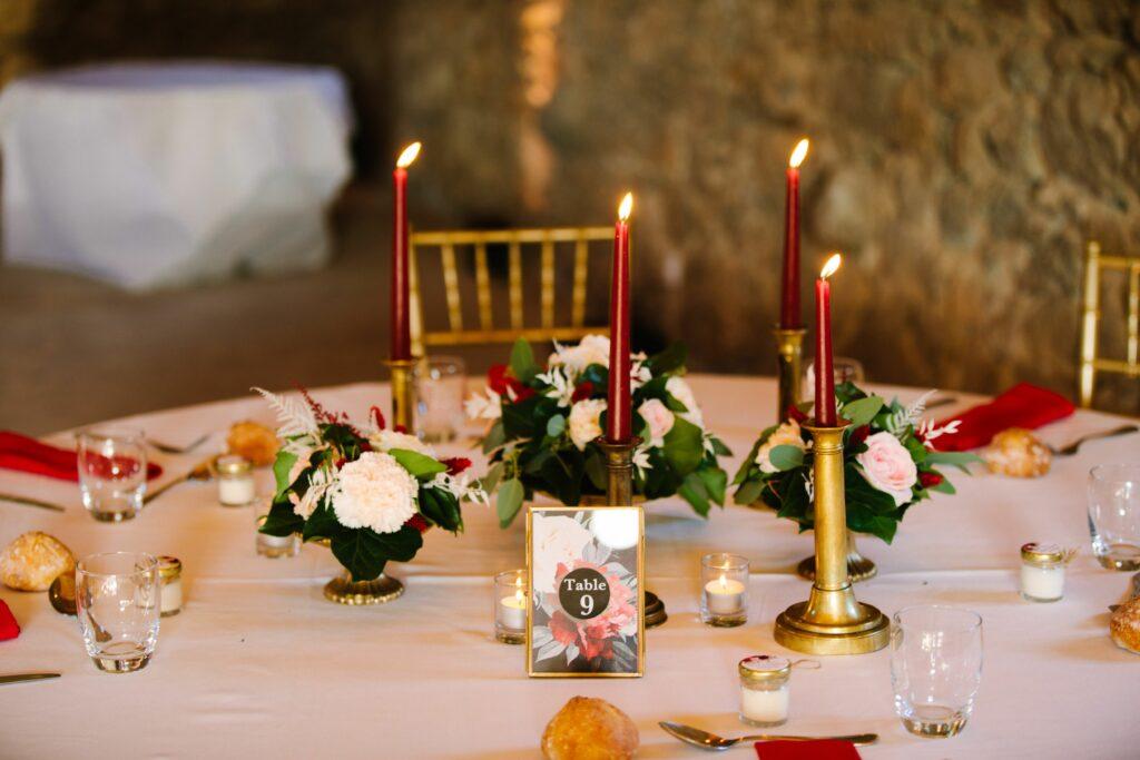 DECORATION MARIAGE CENTRE DE TABLE BORDEAUX MARIAGE ARDECHE