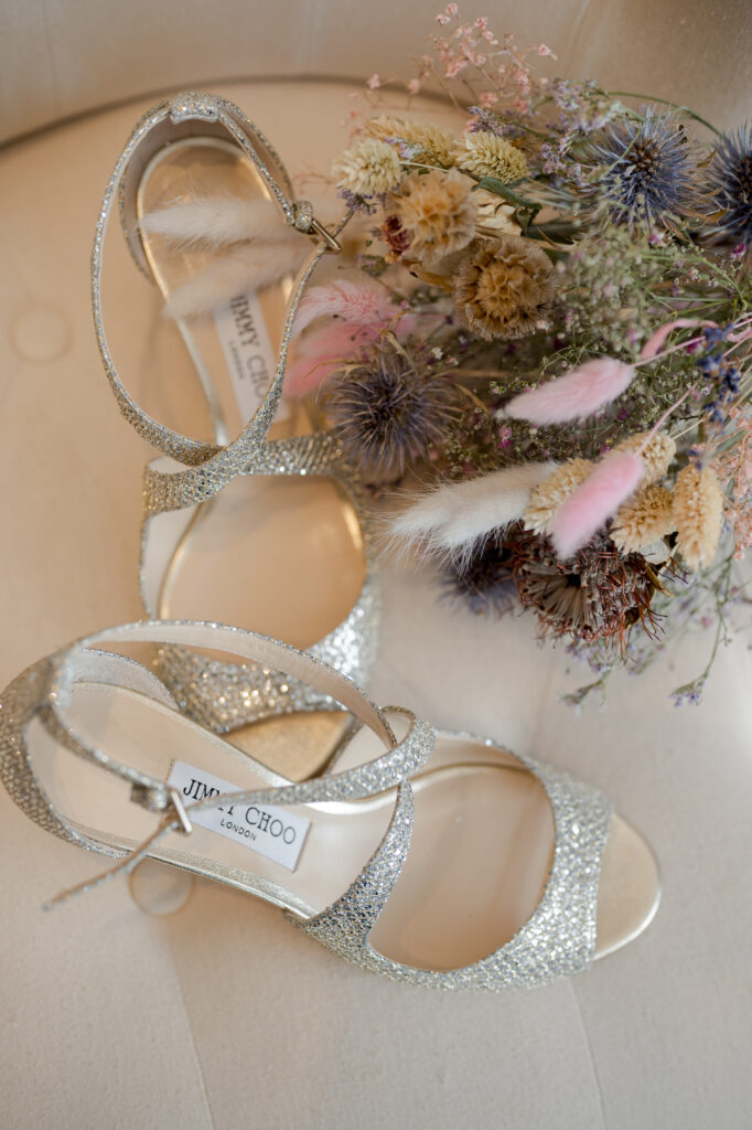 chaussure dore de mariée jimmy choo drome wedding planner d day organisation mariage