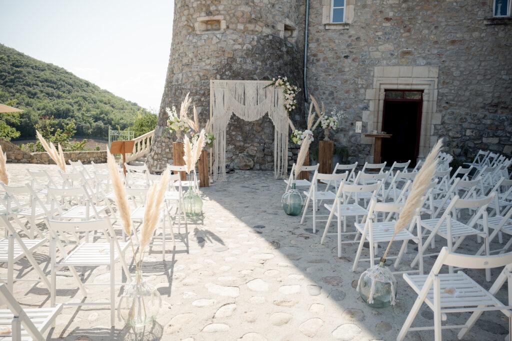 ceremonie laique boheme macrame ardeche wedding planner d day organisation mariage