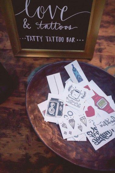 Bar à tattoos mariage animation invités