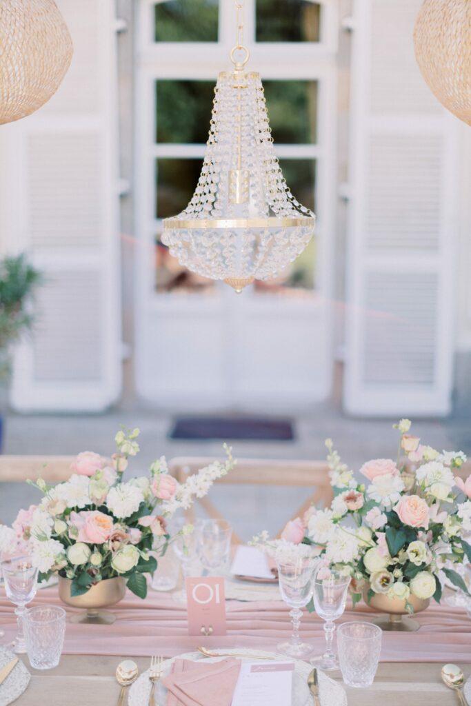 décoration table mariage rose blush mariage bretagne