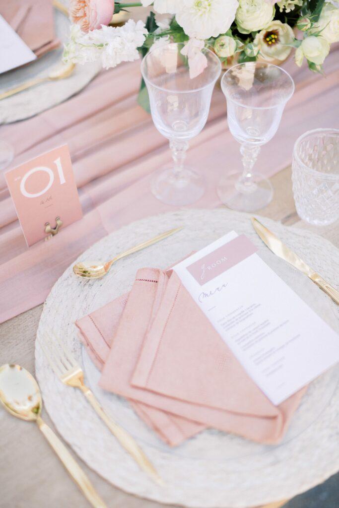 décoration mariage rose poudré