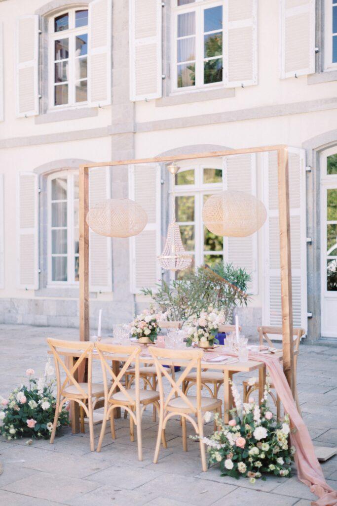 décoration mariage elegante rose wedding planner vannes