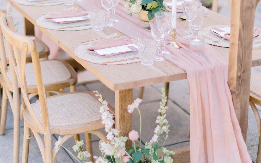mariage rose poudré