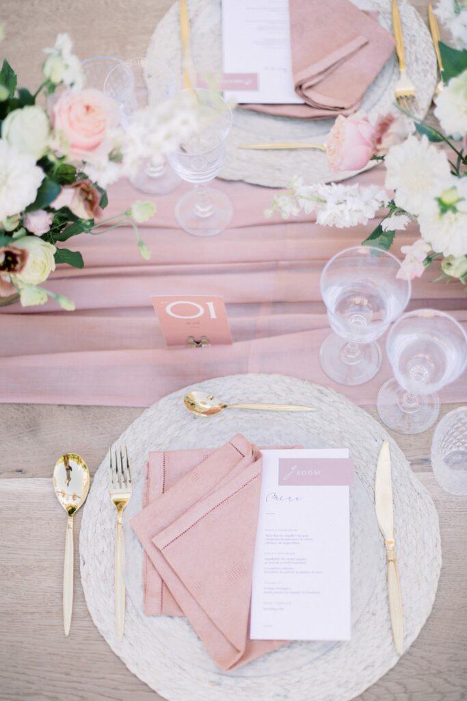 décoration mariage blush pink wedding planner bretagne