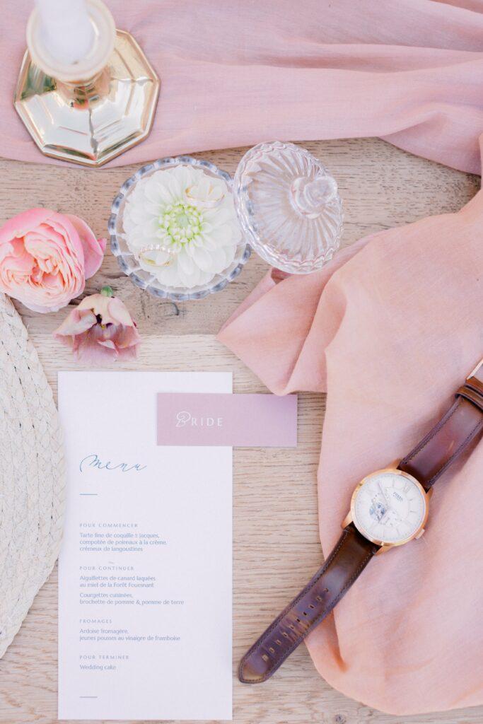 décoration mariage rose poudré organisation mariage bretagne
