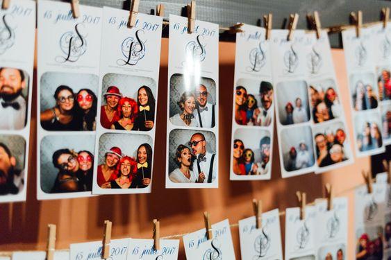 Support bar à photos mariage