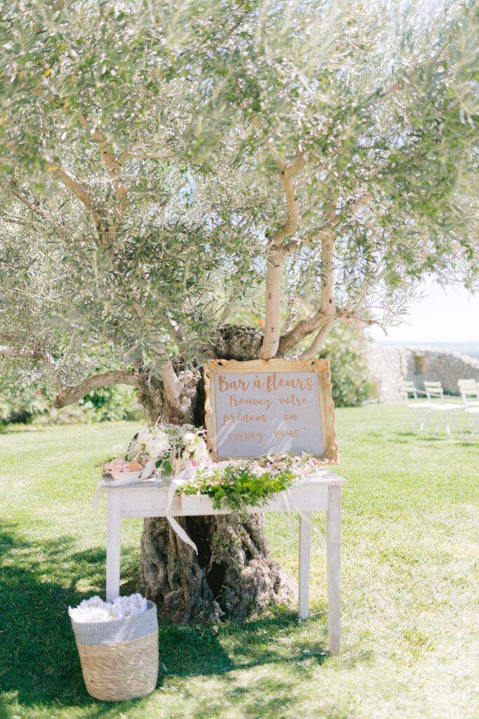 décoration de mariage en drome provence lavande