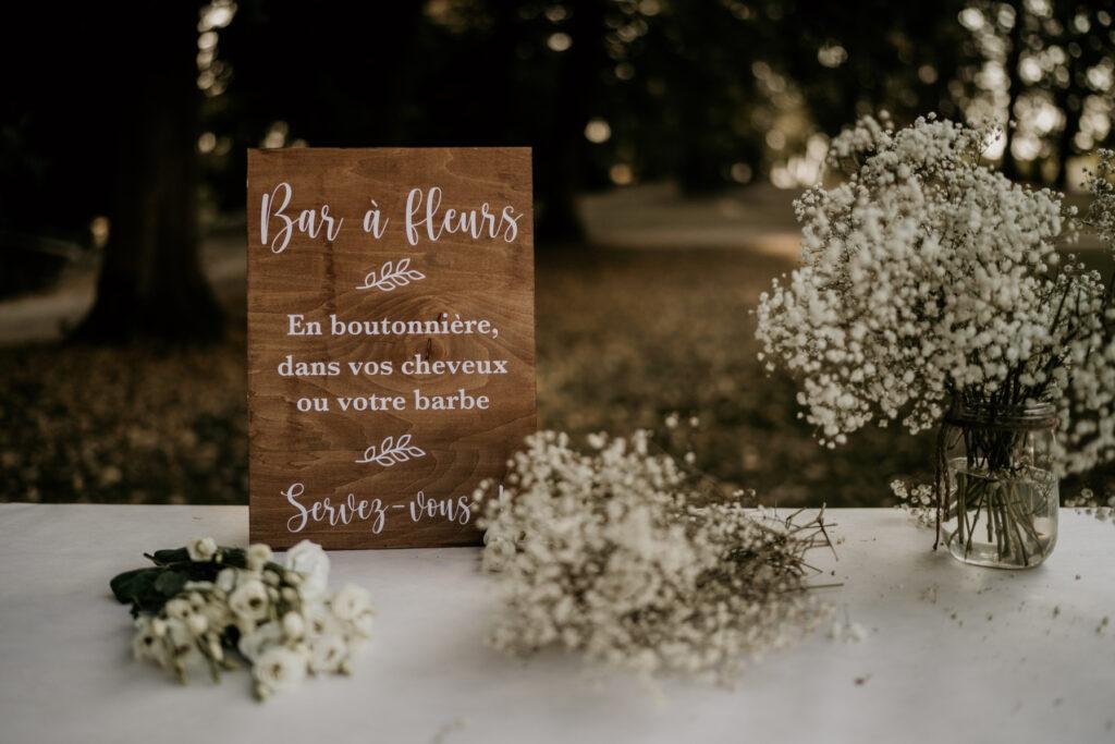 flower bar bar à fleurs mariage wedding planner lyon organisation mariage beaujolais