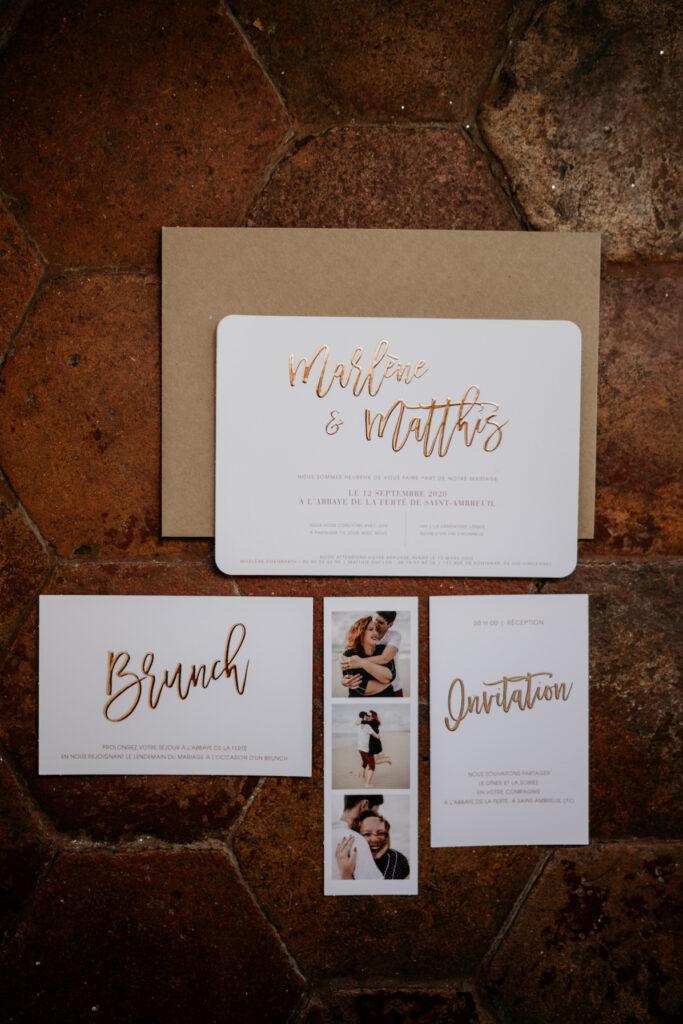 save the date mariage doré faire part wedding planner lyon organisation mariage beaujolais