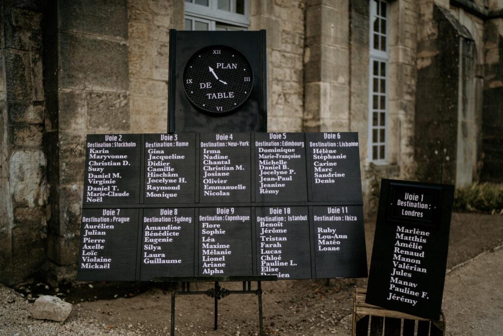 plan de table mariage voyage wedding planner lyon organisation mariage beaujolais