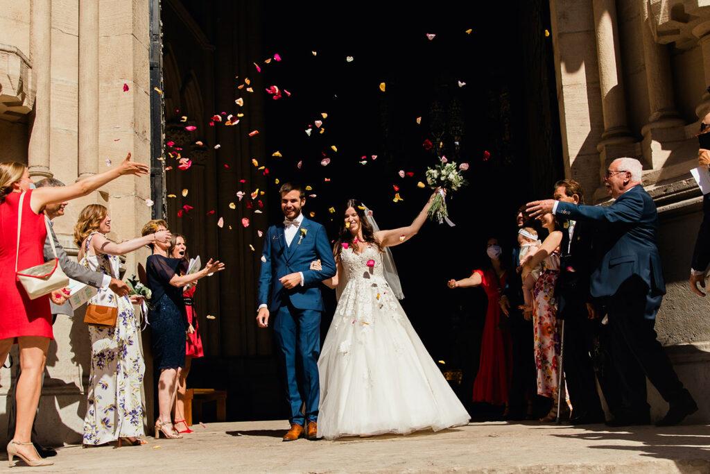 SORTIE EGLISE mariage beaujolais organisation de mariage lyon wedding planner lyon mariage beaujolais