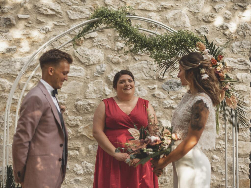 Cérémonie de mariage décoration de maraige cérémonie debout wedding ceremony