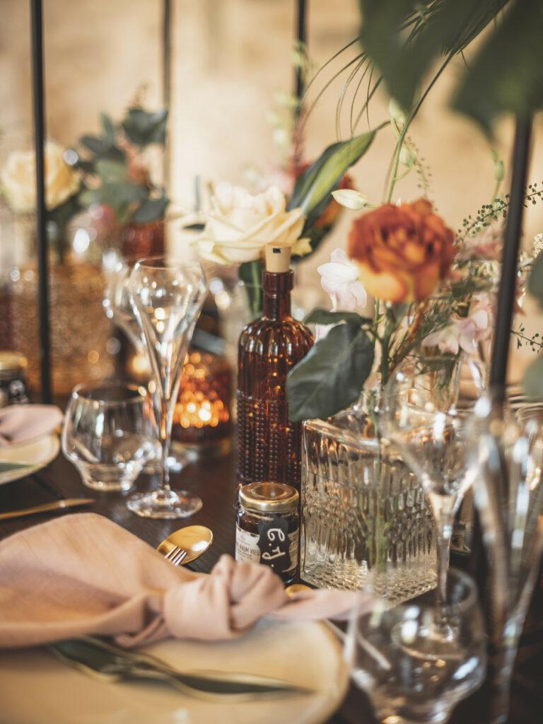 table de mariage décoration de table fleurs de mariage décoration