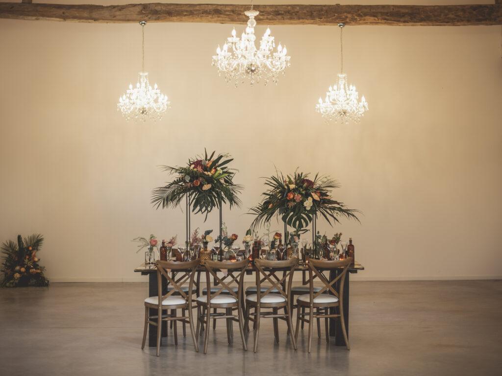 table des mariés table décoration exotique déco table de mariage