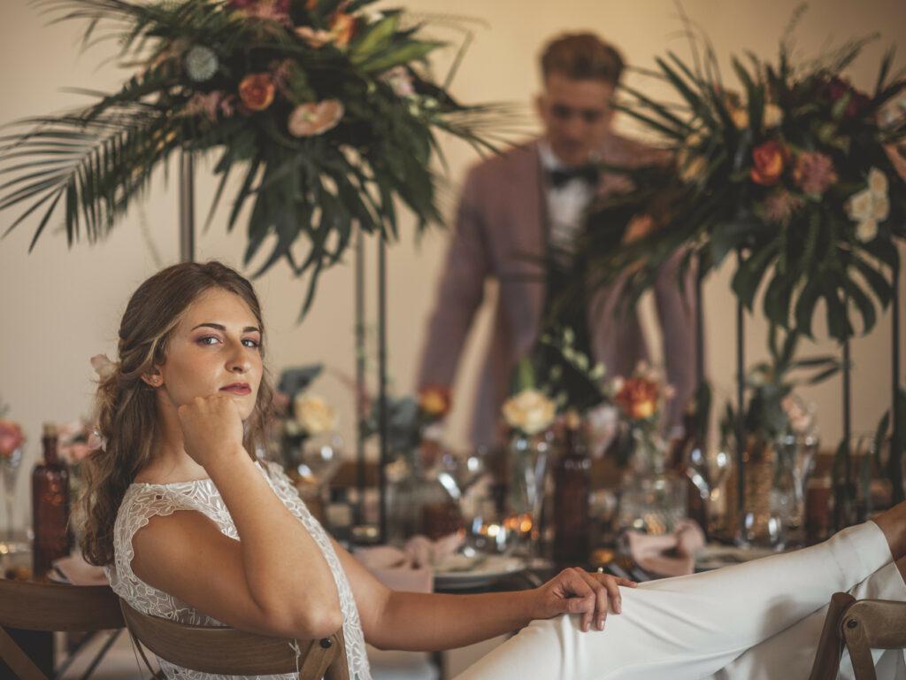décoration de table mariée détails de la tenue