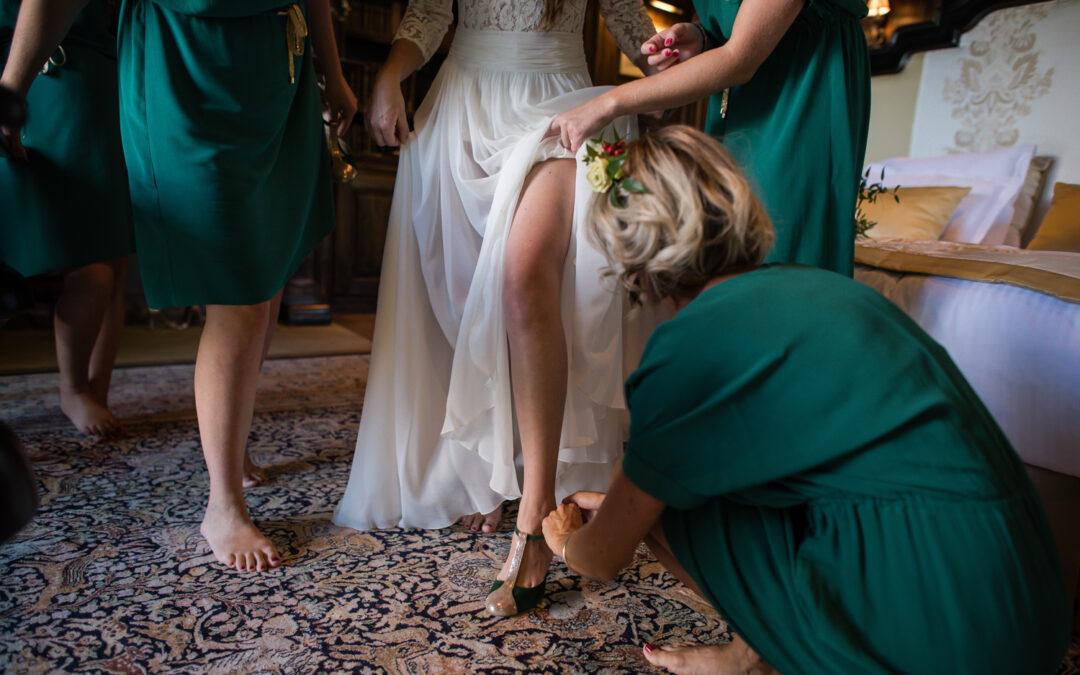 Les chaussures de mariée